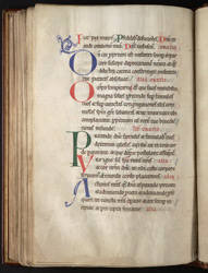 Decorated Initials At The Start Of The Hours Of The Virgin, In A Psalter-Hours